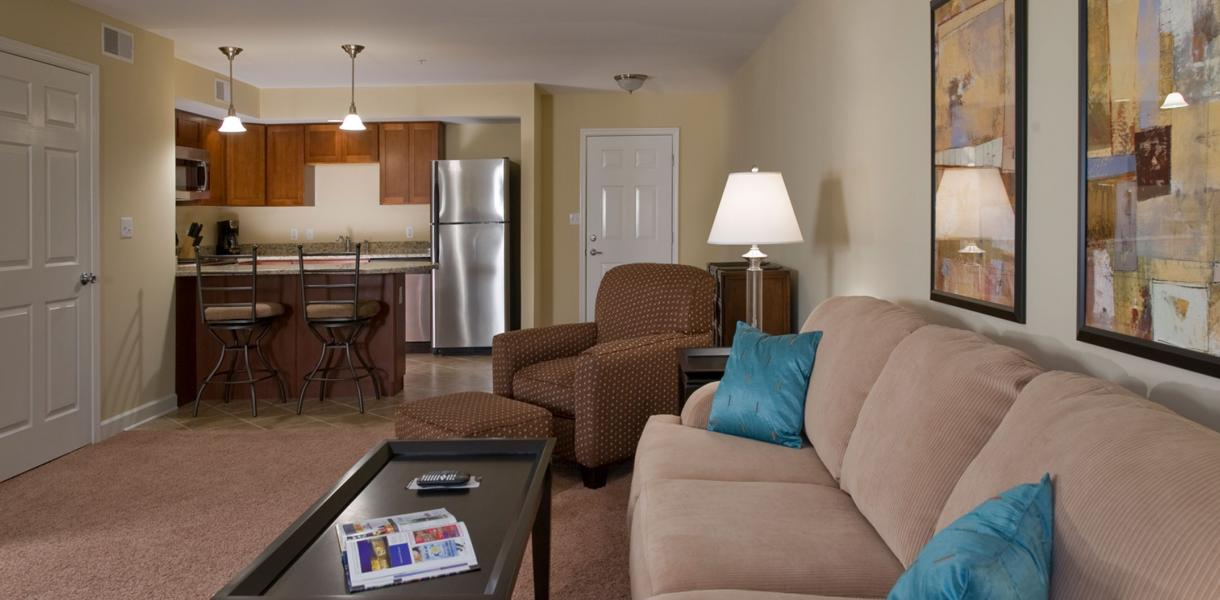 view of the living area within one of the apartments at Towers at Greenville