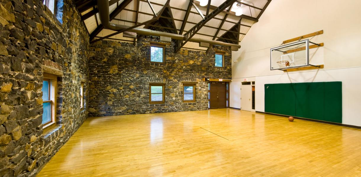 image of the indoor basketball court at Village Park at Paladin