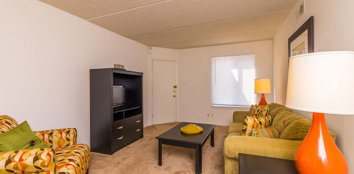 view of a living area at Salem Village Apartments