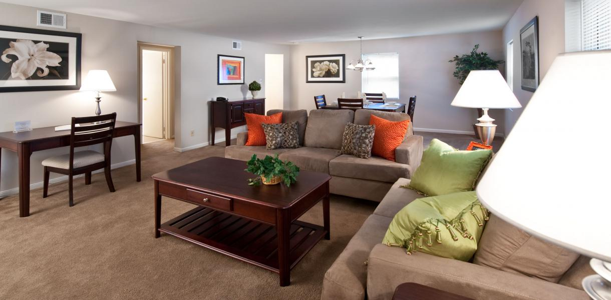 Greenville Place Apartments. Living Room
